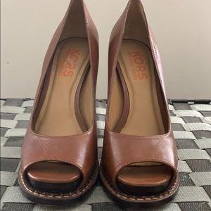 Michael Kors peep-toe stilettos- new